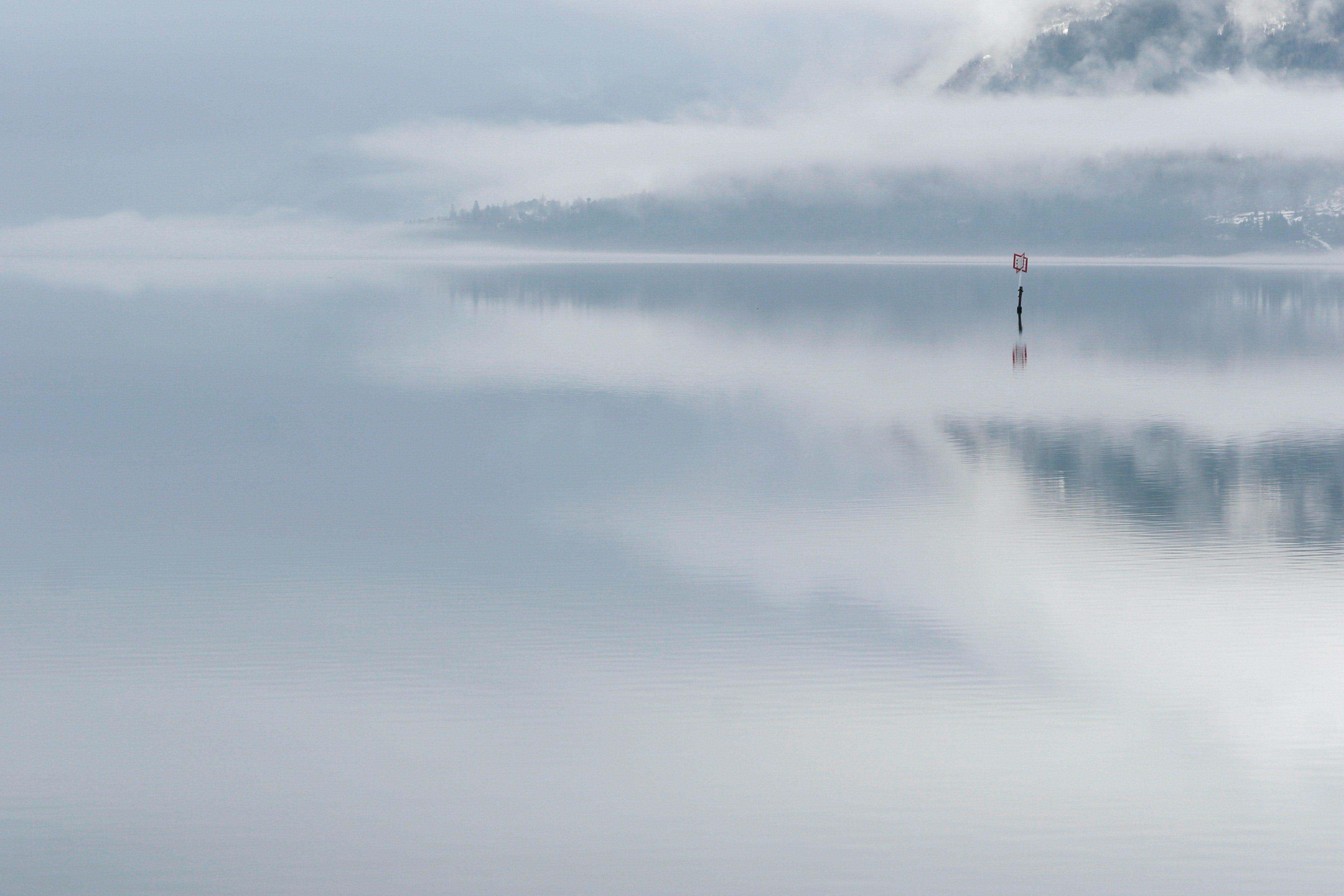 Baken in de mist